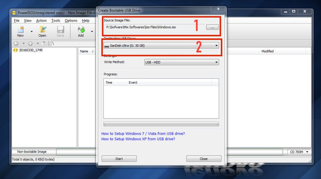 Make Bootable Window Pendrive from Poweriso