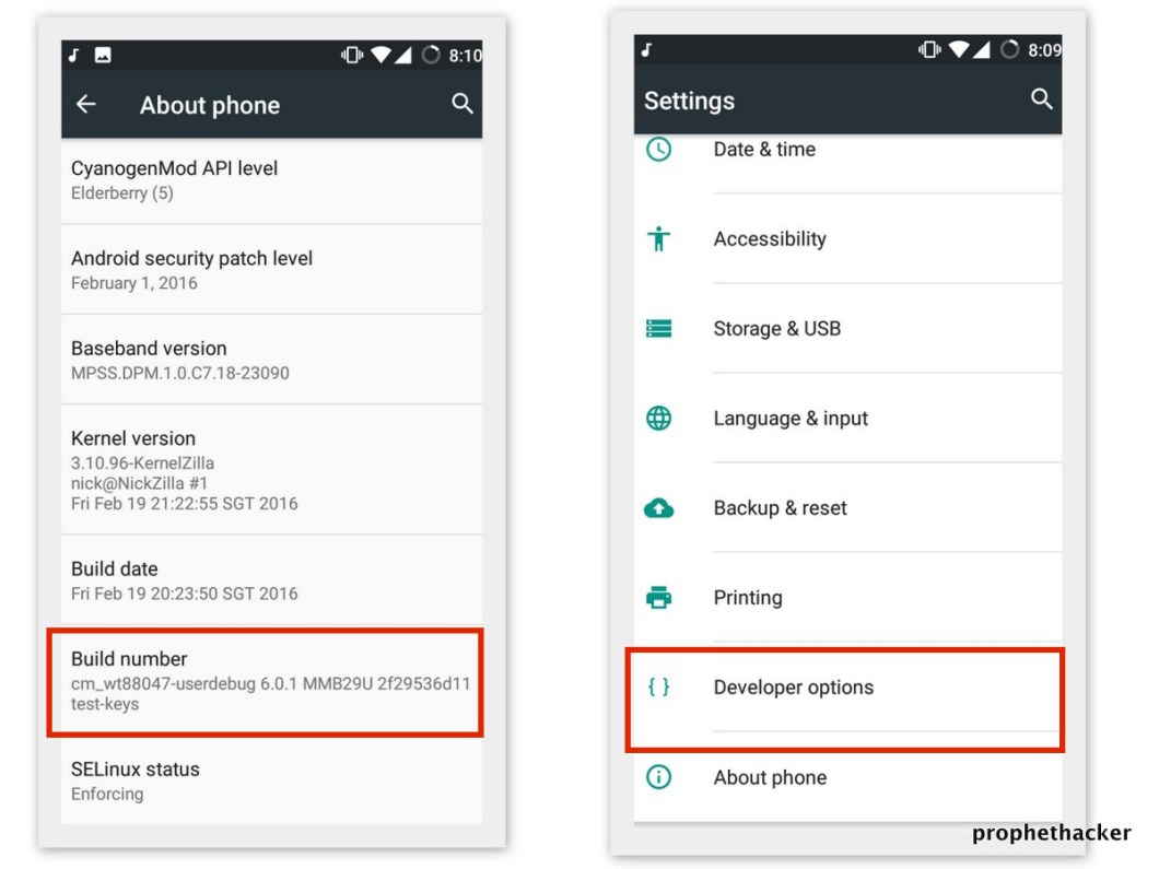 Developer Option in Android Mobile