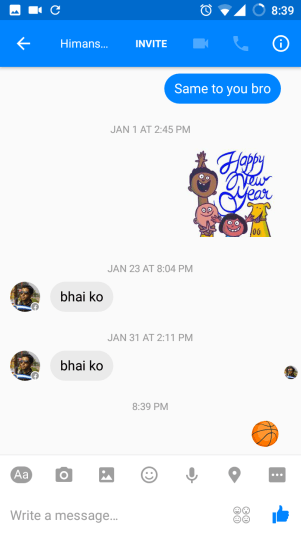 Secret Basketball Game in Facebook Messenger App