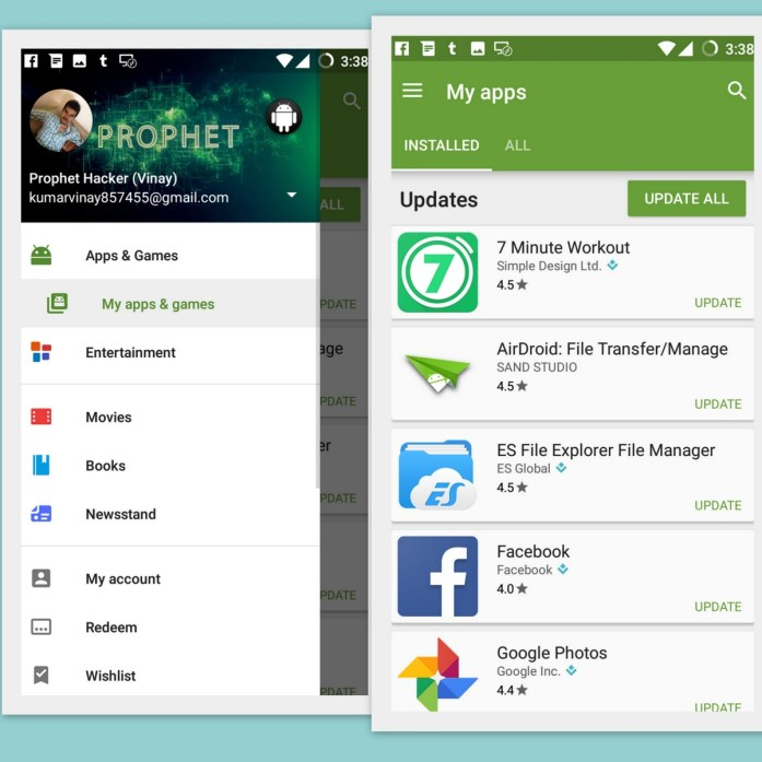 Update All Android apps at One