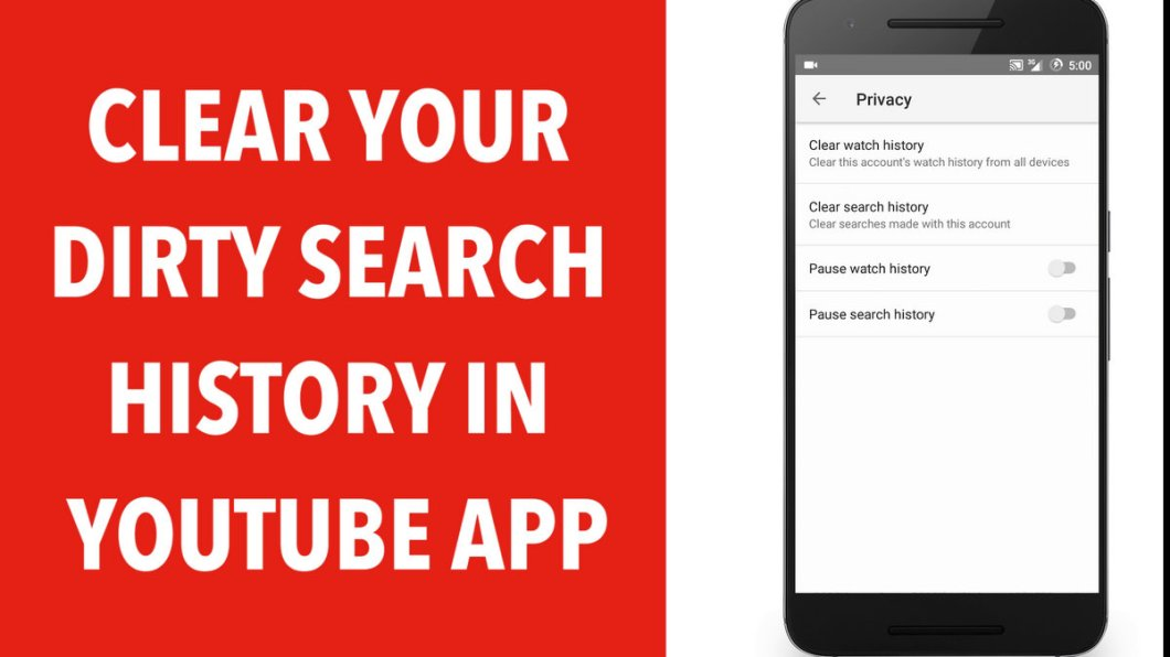 Clear Youtube Android App Search History