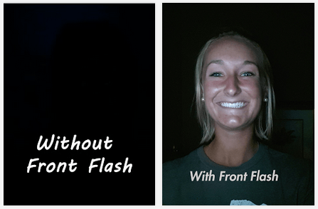 How to Add Flash To Your Front Camera To Take Photo at Night using Front Flash