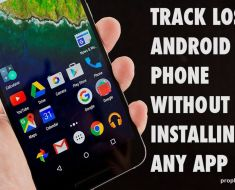 Track Lost Android Phone without Installing any App