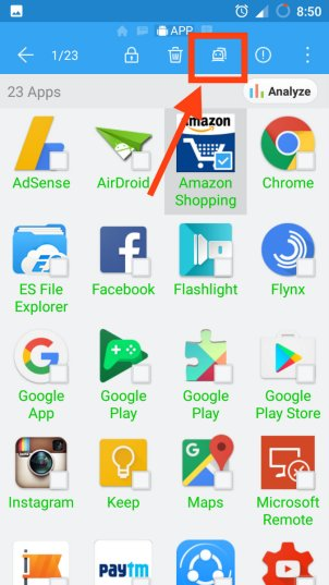 Select Android Apps for Backup