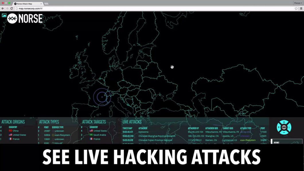 Norsecorp - Live Hacking Attacks Map