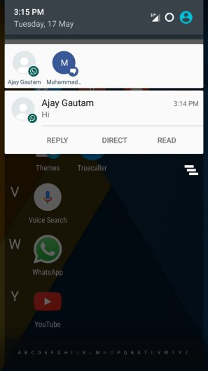 quickReply Android App Notification