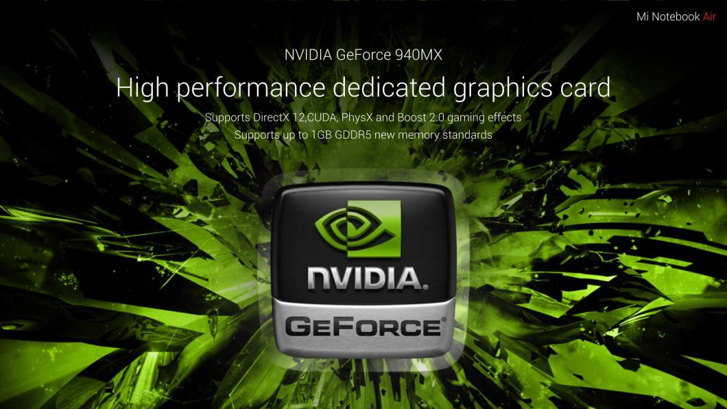 Mi Notebook Air Graphics Card Features