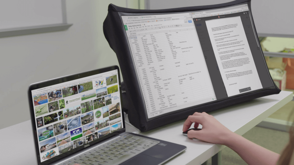 SPUD is a 24 inch Collapsible Projector that fits in a small bag