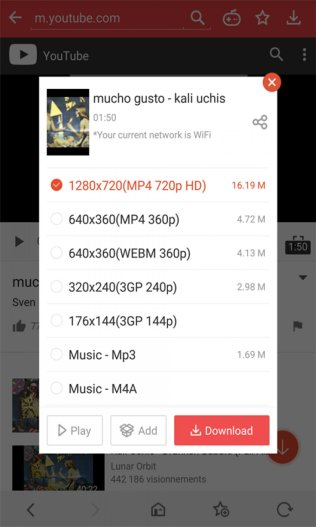 Vidmate Android app