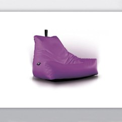 Purple Bean Bag Chair Helps You Stand Up