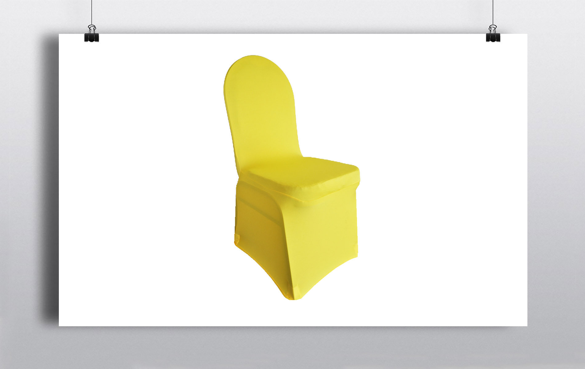 chair cover rental orland park design in karachi spandex covers canary yellow