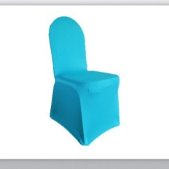 Blue Spandex Chair Covers Harwick Extra Tall Ergonomic Drafting Linen Turquoise