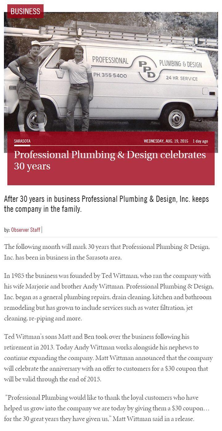 Plumbing Blog  Professional Plumbing  Design Sarasota FL