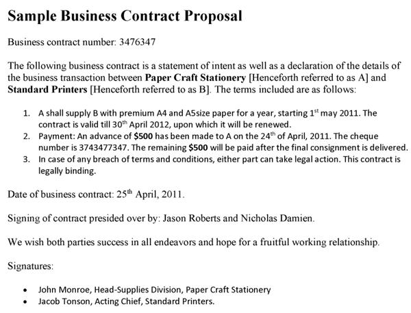 business contracts samples Oylekalakaarico