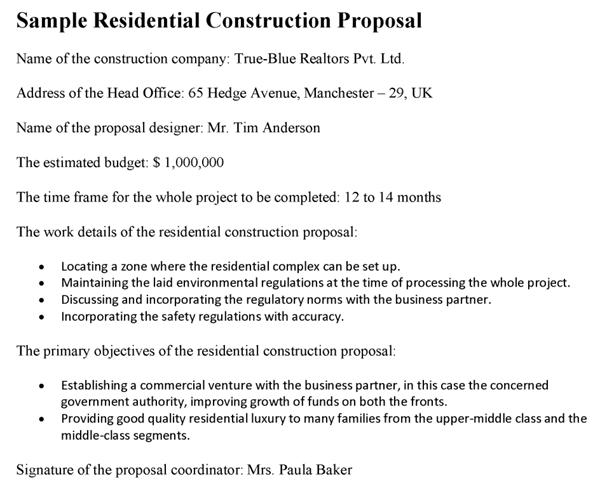 proposal comparison template