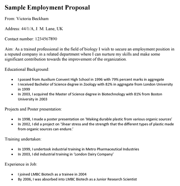 Job Position Proposal Template Hvac Technician Resume Format