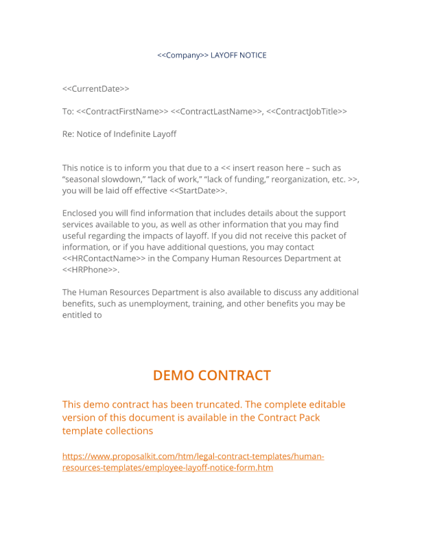 layoff notice template 21 images layoff letter sle employee
