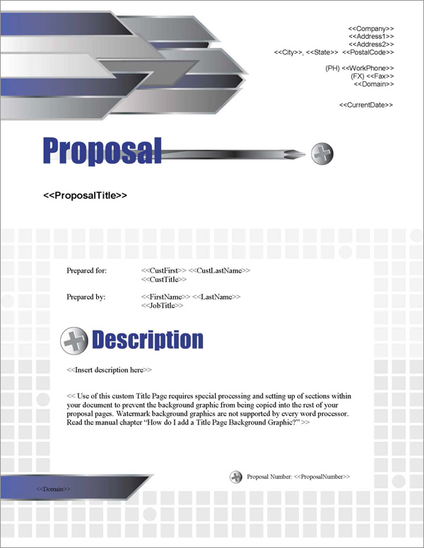 title page for a proposal