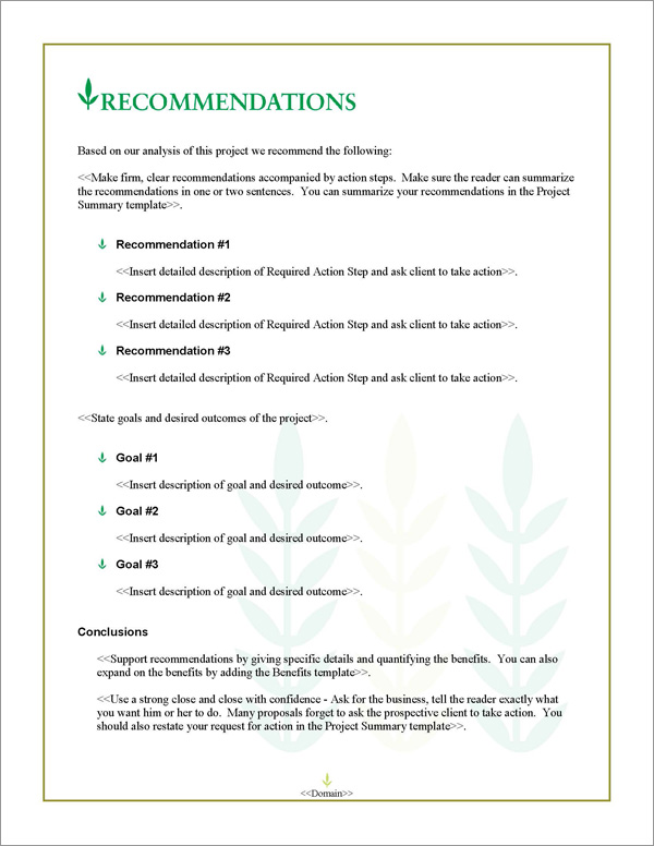 Proposal Pack Agriculture #3 Software Templates Samples