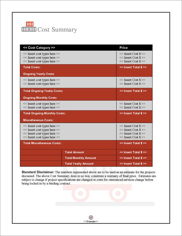 Proposal Pack Transportation #3 Software Templates Samples