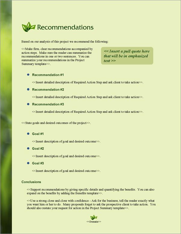 Proposal Pack Environmental #4 Software Templates Samples