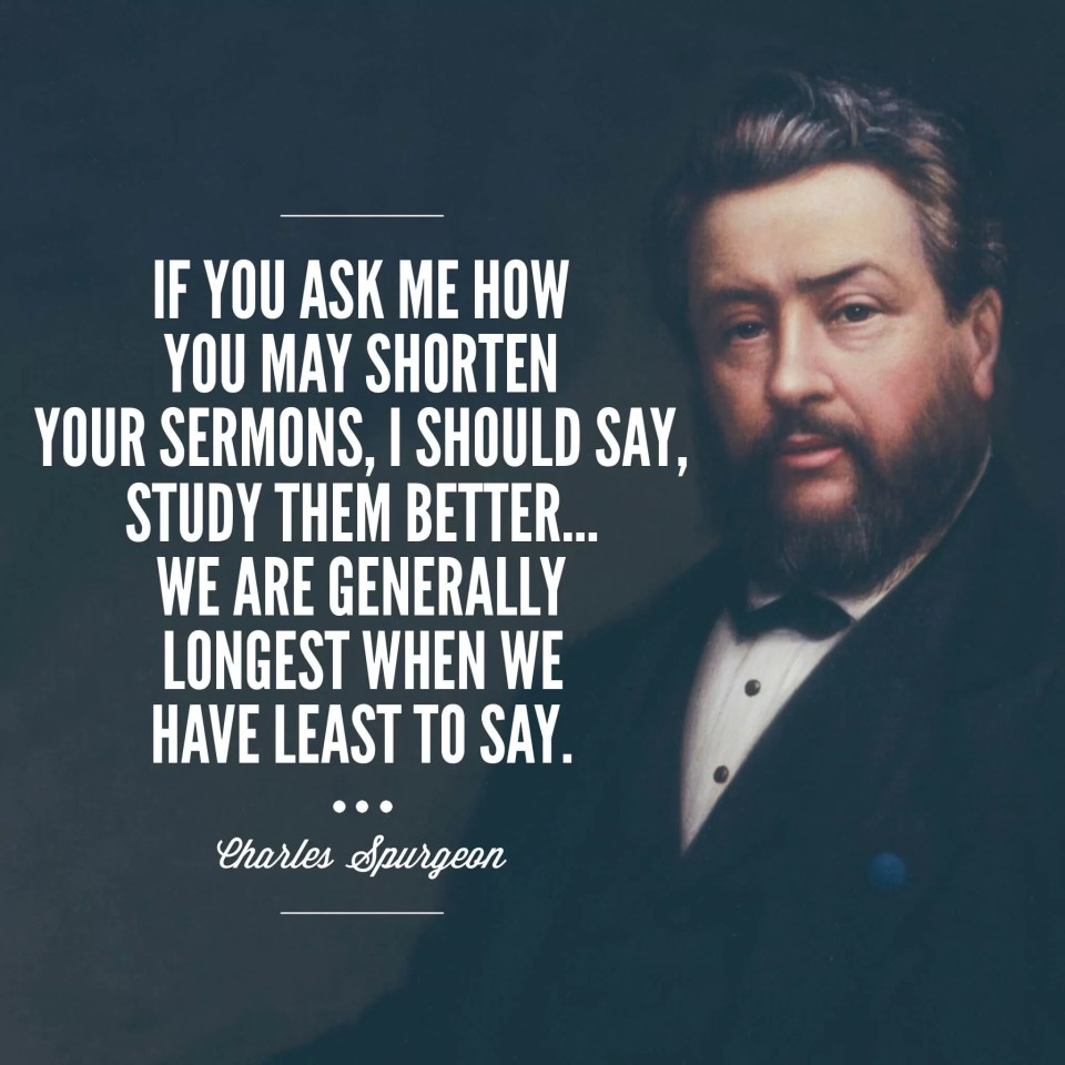 Charles Spurgeon on sermon length