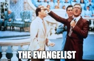 the evangelist preaching style