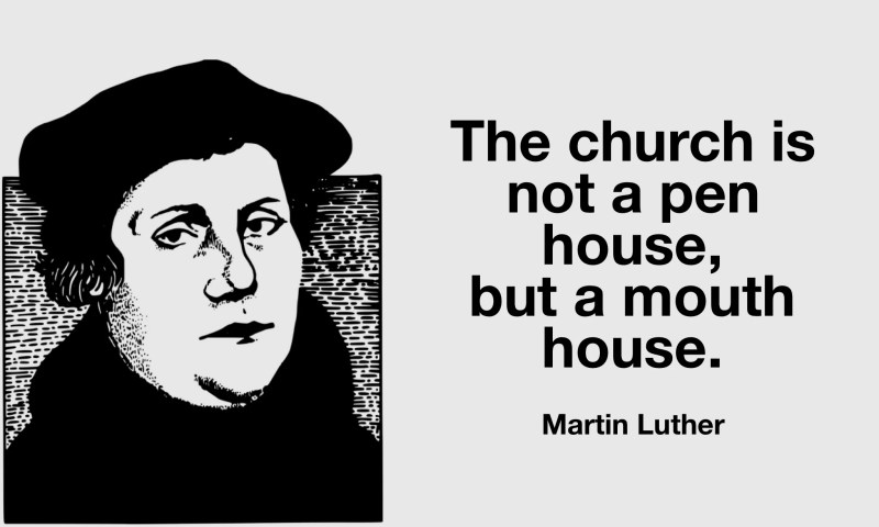 Martin Luther quote on the church