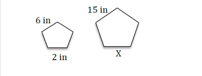 Exam: Skill #35: Find The Missing Side Of Similar Figures