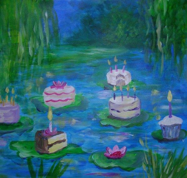 Artsy Happy Birthday Cake