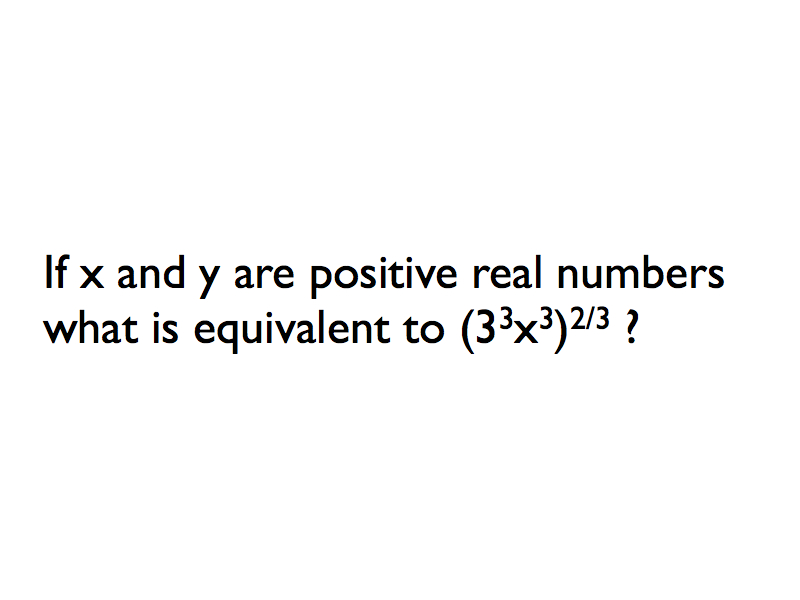 Exponents And Radicals! Algebra Trivia Questions Quiz