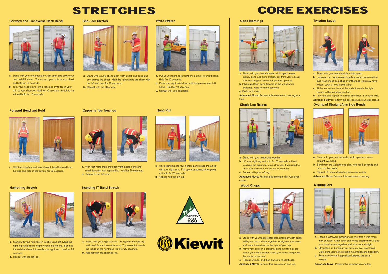 Stretching Work Posters Pre