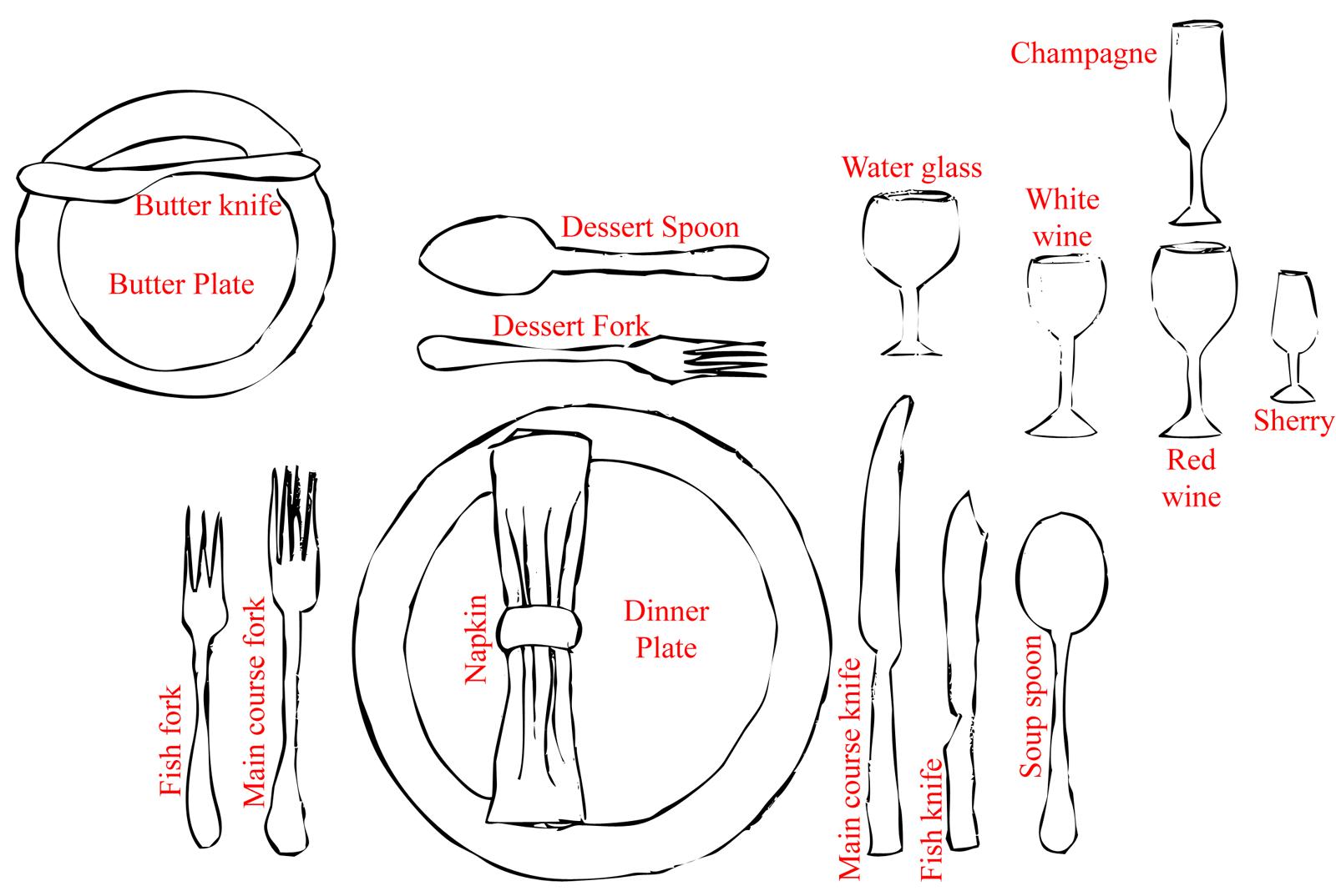 Formal Dinner Settings