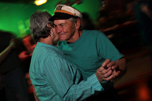 Thomas Gonzalez dancing at Rockin' Rumors in Delacroix, La., on Nov. 12, 2010. (Melanie Burford/Prime for ProPublica)