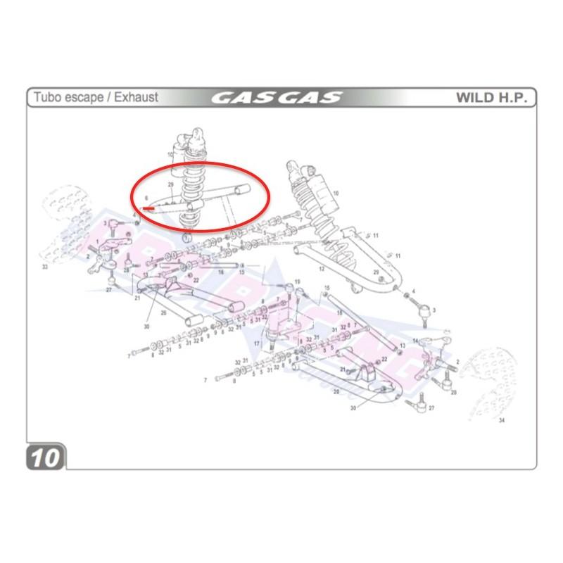 BRAS SUSPENSION SUPERIEUR DROIT 120MM QUAD WILD HP 450