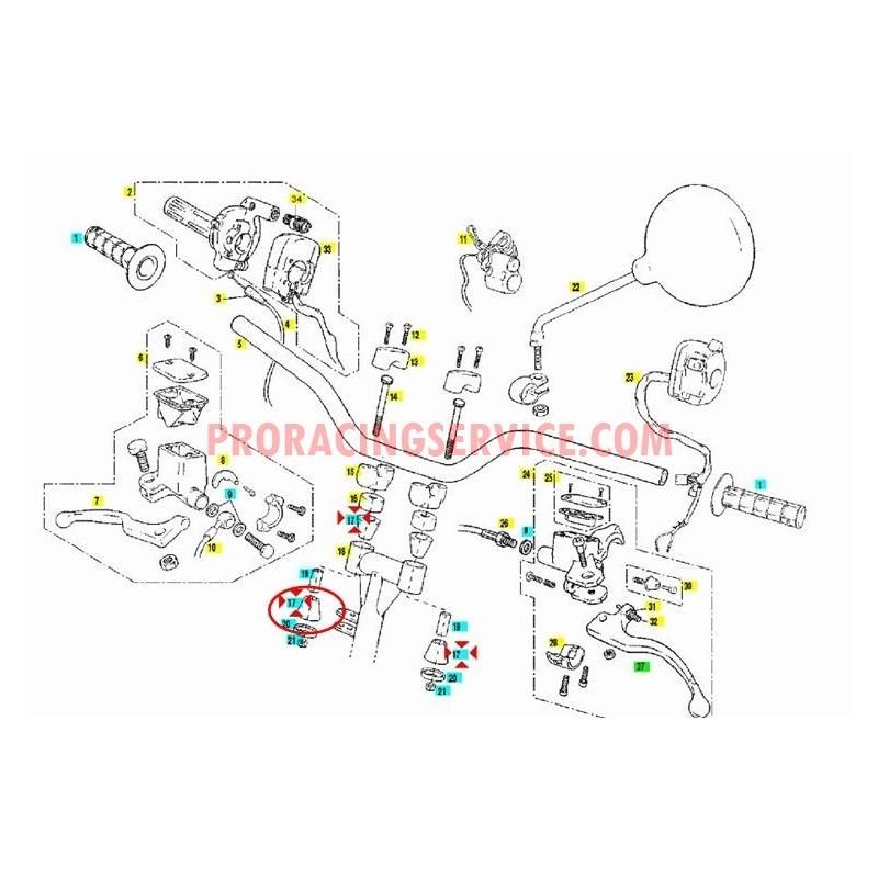 SILENTBLOCK DE PONTET GUIDON QUAD WILD HP 02-07 GAS GAS