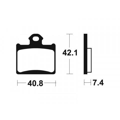 PLAQUETTES FREIN ARRIERE 65 SX / MODELES E KTM