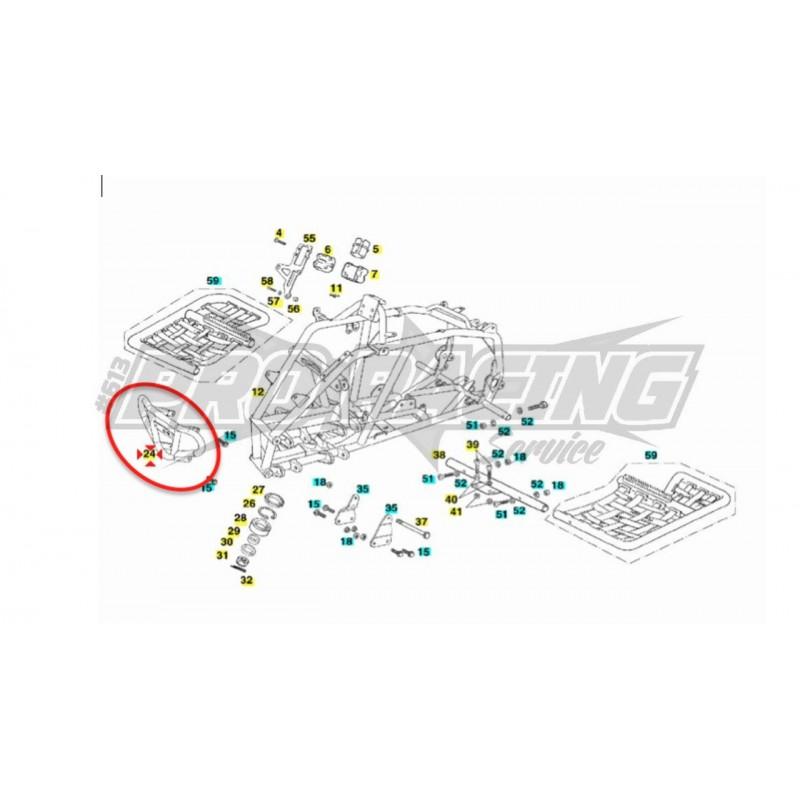 PARE-CHOCS AVANT GAS GAS QUAD WILD HP 450 2007 GAS GAS