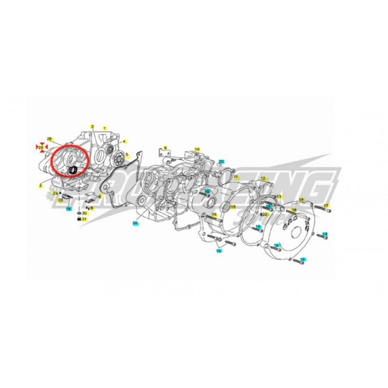 ROULEMENT A BILLES 6203 2Z C3 CARTER MOTEUR EC SM 4T 450