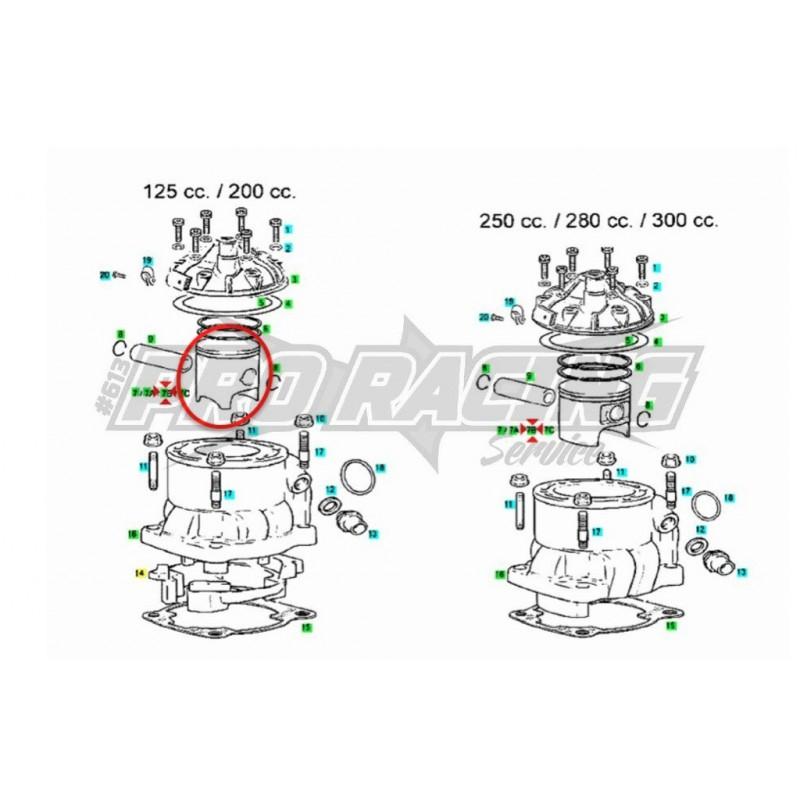 PISTON TXT TRIAL PRO RAGA RACING GAS GAS 250 2002-2015