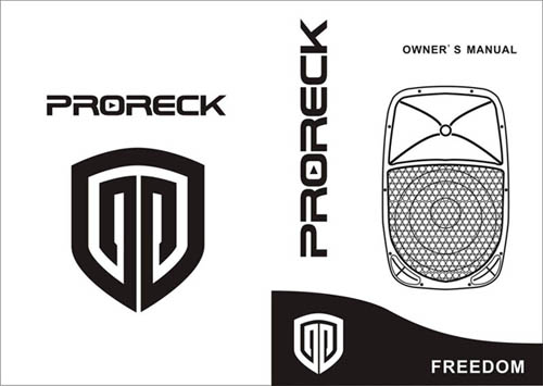 PRORECK FREEDOM 12 Portable 12-Inch 600 Watt 2-Way Powered