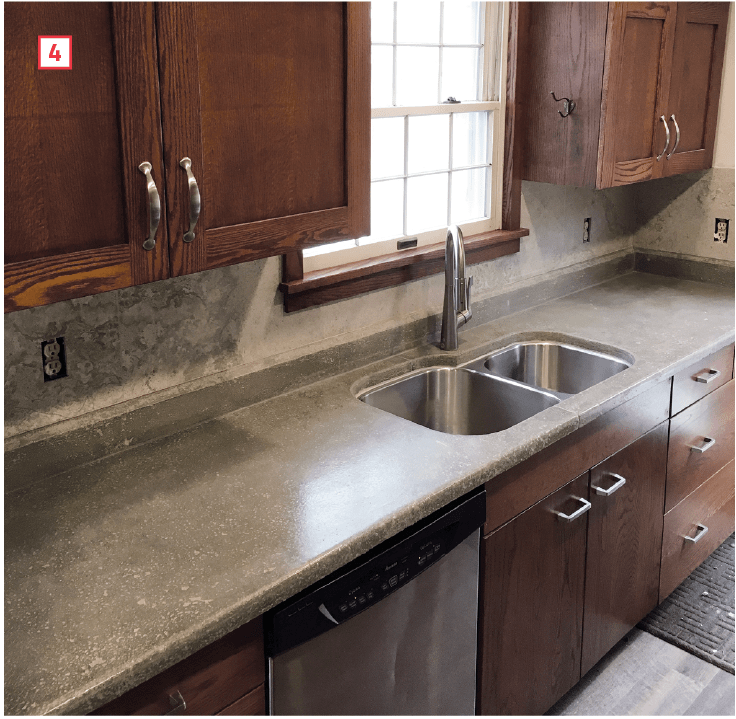 cement kitchen sink hotels with a carpenter s first time building concrete countertops pro remodeler i set the two smaller tops by myself and placed pieces of long countertop little help once verified they fit lifted front edge