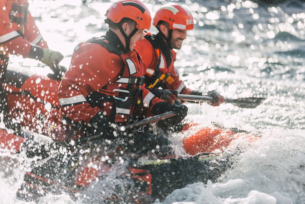 White Water Rescue Boat Training