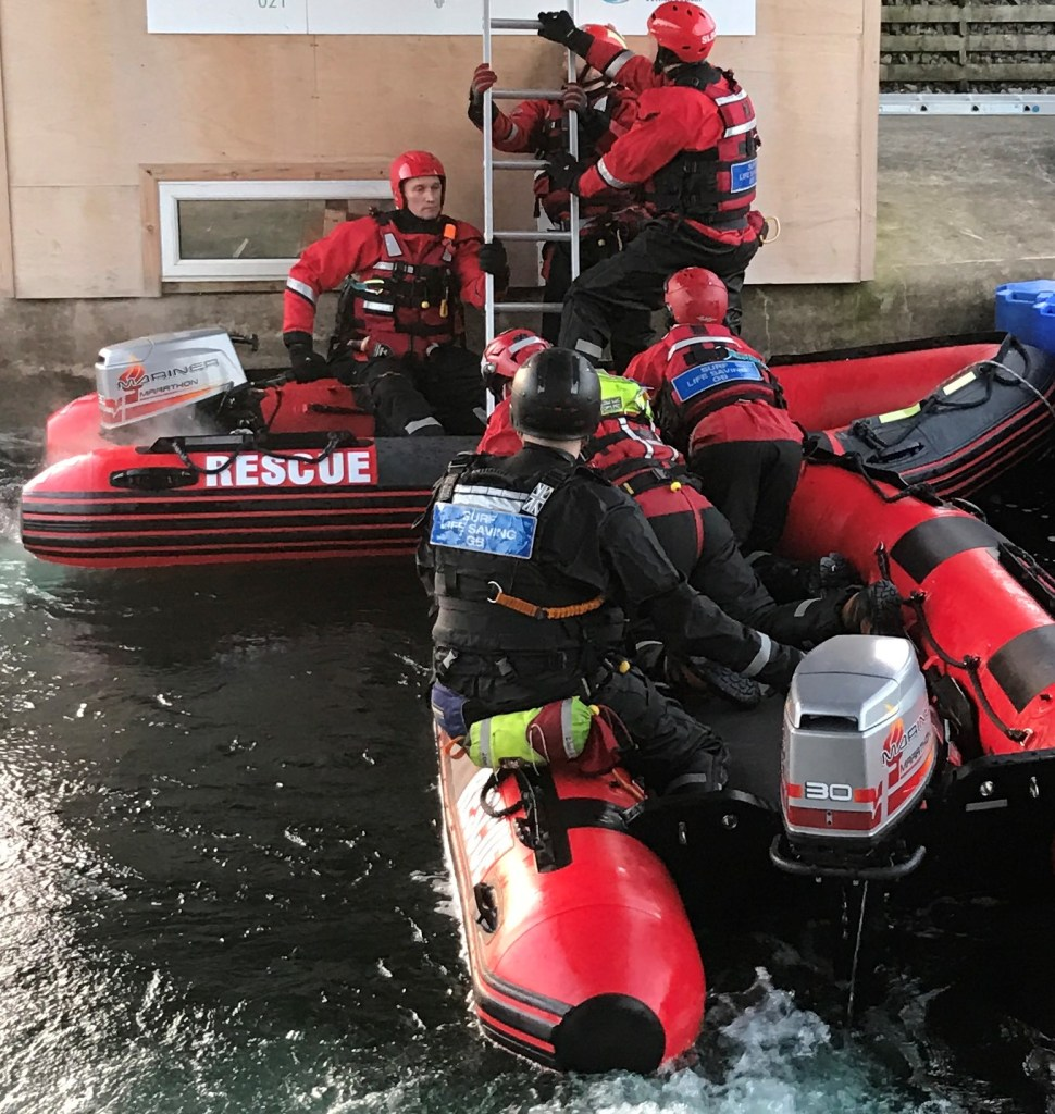 Flood Rescue 400 IRB Boat in use