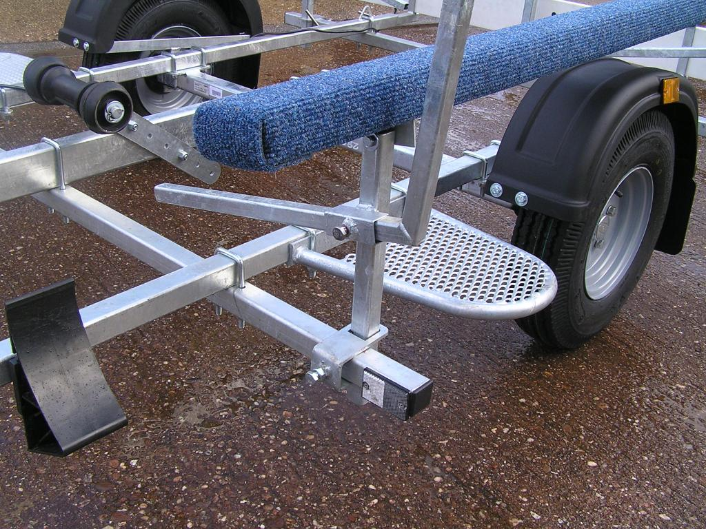 Boat Trailer With Step and Wheel chock