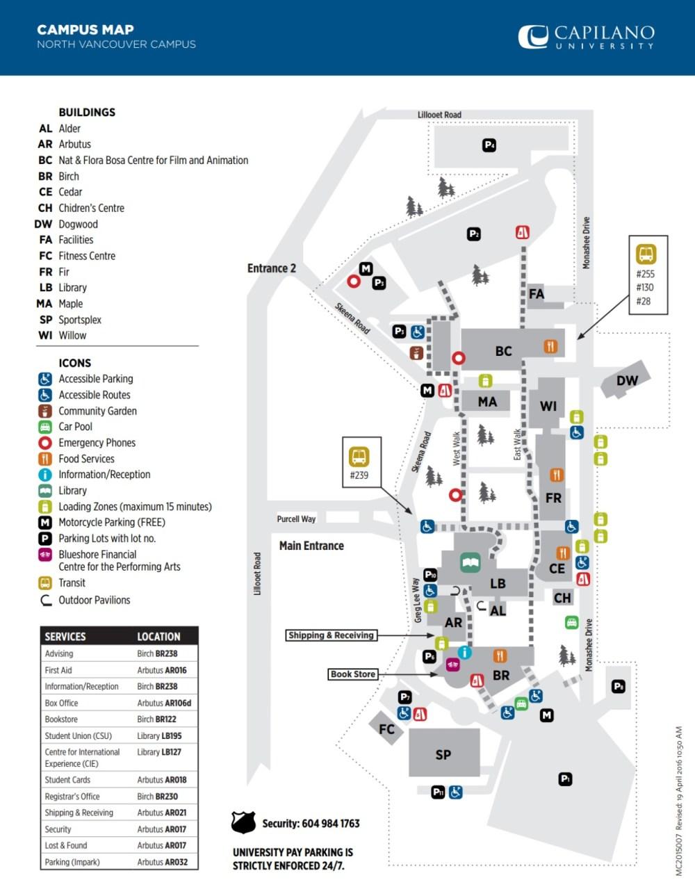 medium resolution of capu campus map