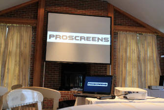 projector and screen hire london