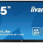 iiyama interactive touch screen hire
