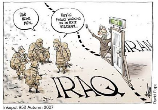 Image result for Cartoon images of US Occupation of Iraq""