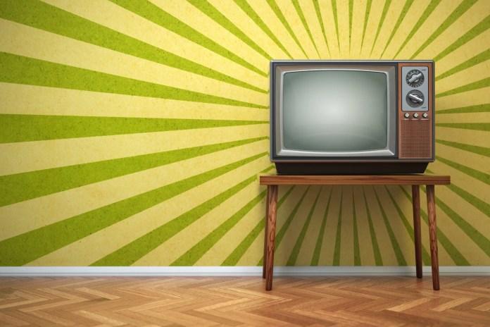 An old TV set